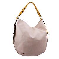 3579d836b674 Женская сумка-мешок на одной ручке из кожзаменителя Batty B-BY15154 бежевая