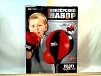 Боксерский набор   перчатки, груша на стойке, в коробке