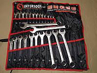 Профессиональный набор ключей комбинированных 25 едениц 6-32 мм INTERTOOL HT-1200