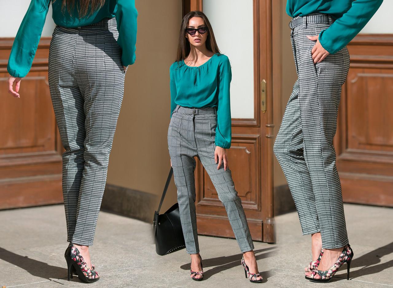 """Стильные женские брюки 483 """"Анжелика Классика Гусиная Лапка"""""""
