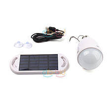 Светодиодная лампа с крючком на солнечной батарее и с USB подключением, фото 2