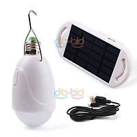 Светодиодная лампа с крючком на солнечной батареи и с USB подключением