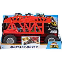 Hot Wheels Monster Trucks Monster Mover большой грузовик-монстр Автоперевозчик монстер треков, фото 1