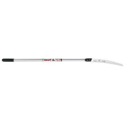 Алюминиевая телескопическая ручка (L=1 080-1 840 мм) c изогнутой пилой (GC-331-LH) ATP1840+GC331 Samurai, фото 2
