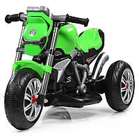 Электромотоцикл детский Bambi, M 3639-5 зеленый