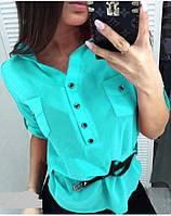 Рубашка женская с карманами  чех049, фото 1