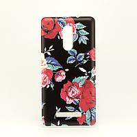 Чехол Print для Xiaomi Redmi Note 3 Pro SE / Note 3 Pro Special Edison 152 силиконовый бамперFlowers