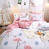 Комплект постельного белья Королевский фламинго (двуспальный-евро) Berni, фото 2