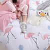 Комплект постельного белья Королевский фламинго (двуспальный-евро) Berni, фото 5