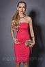 Платье женское с болеро, мод 473-3 размеры 44 коралл (А.Н.Г.)