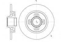 Тормозной диск  задний Citroen Berlingo 1,6HDI Roadhouse 61058.00