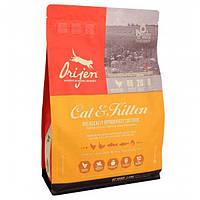 Корм для котов ORIJEN Cat&Kitten 2,27 кг ориджен для котов и кошек всех пород и возрастов