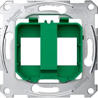 Опорные платы для модульного разъема, зеленый Shneider Merten(MTN4566-0004)