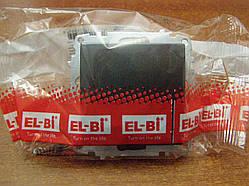 Выключатель одноклавишный с подсветкой без рамки El-Bi ZENA черный металик