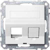 Плата наклонная для Keystone RJ45, полярно-белый Shneider Merten(MTN4568-0319)