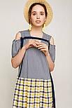 2192 платье Канон, синий с желтым (46-48), фото 2