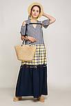 2192 платье Канон, синий с желтым (46-48), фото 6