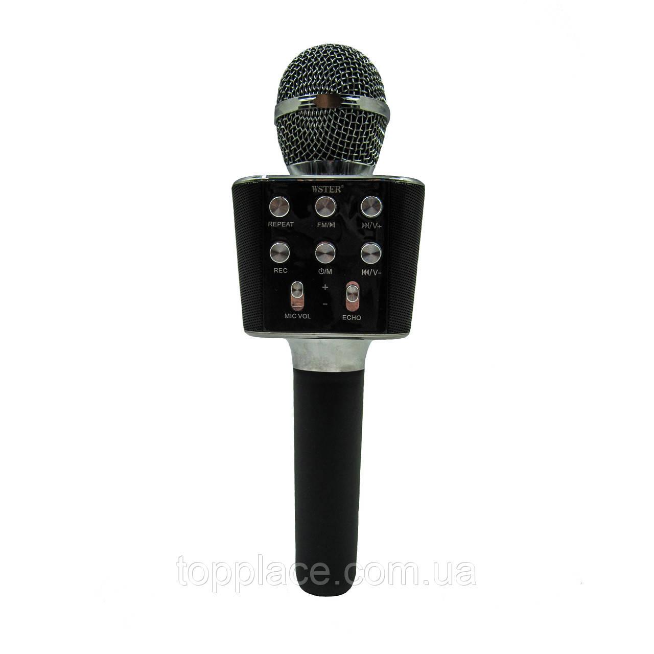 Беспроводной Bluetooth караоке микрофон WSTER WS-1688 Black (G101001168)