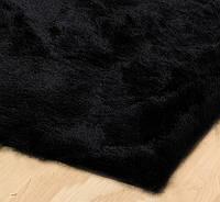 Черный ковер купить, дизайнерские мягкие, шелковистые ковры