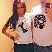 Парные футболки  Не сверли мне мозг Ф2б-70, фото 1