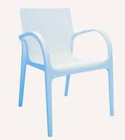 Барный пластиковый стул для ресторана Гектор  голубой