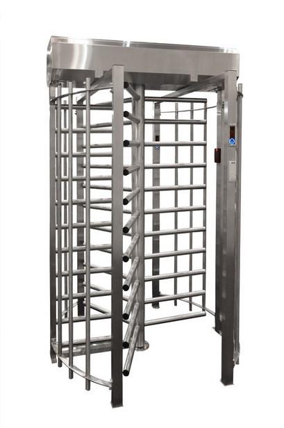 Турникет полноростовой однопроходной SESAME 90°, корпус стальной окрашенный RAL7035 или RAL9005
