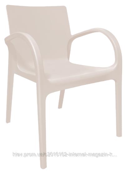 Пластиковый стул для кафе Гектор  кремовый