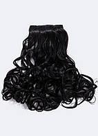 №7.Набор из 6 прядей,цвет черный натуральный