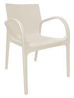 Пластиковый стул  Гектор  светло-бежевый