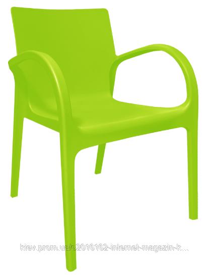 Пластиковый стул  Гектор  светло-зеленый