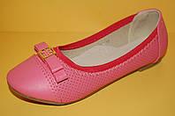 Детские нарядные туфли-балетки ТМ Мышонок код 869-2 размеры 34,36,37