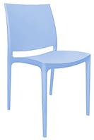 Пластиковый стул  Эмма  голубой