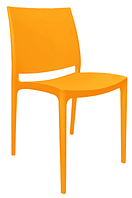 Барный стул пластиковый Эмма оранжевый