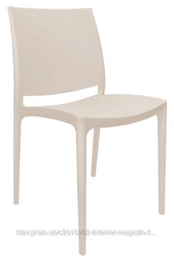 Пластиковый стул для кофейни Эмма светло-бежевый