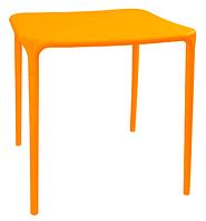 Пластиковый стол для кафе Альф оранжевый