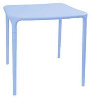 Пластиковый стол для летника  Альф голубой