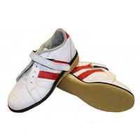 Штангетки обувь для тяжелой атлетики Кожа OB-8363 (верх-кожа, подошва кожа, TPU)