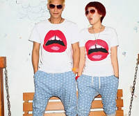 Парные футболки Губы, фото 1