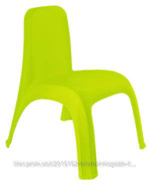 Детский пластиковый стульчик оливковый