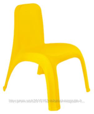 Пластиковый стул детский темно-желтый