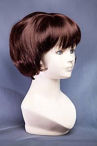 Короткие парики №1,цвет каштановый с красным оттенком