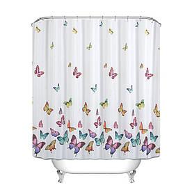 Штора для ванной Бабочки 180 х 180 см
