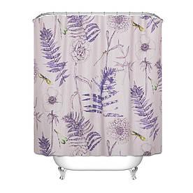 Штора для ванной Растения 180 х 180 см
