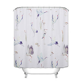 Штора для ванной Аисты 180 х 180 см
