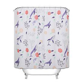Штора для ванной Киты 180 х 180 см Berni
