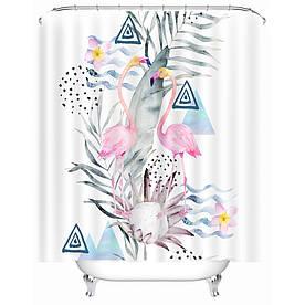 Штора для ванной Милые фламинго 180 х 180 см