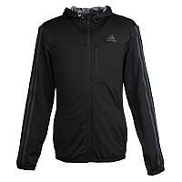Толстовка спортивная мужская adidas Cool365 AY3927 (черная, полиэстер, на молнии, с логотипом адидас)