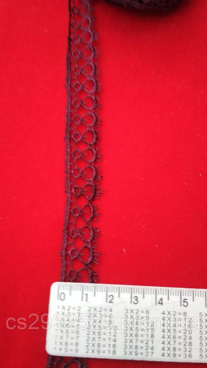 Кружево капелька 9 метров, марсала(слива) Кружево макраме петелька