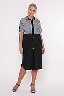 8ad35a1f85e Платье-рубашка Лана черное
