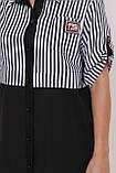 Платье-рубашка Лана черное, фото 4